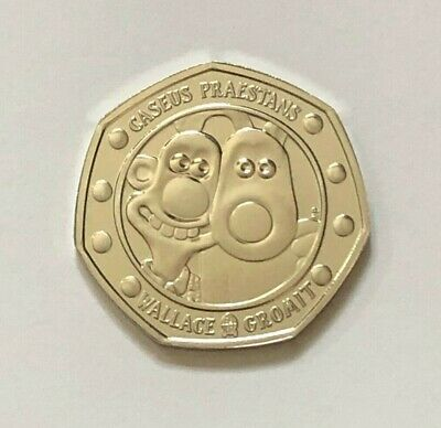 2019 WALLACE AND GROMIT 50p COIN FIFTY PENCE BRILLIANT UNCIRCULATED