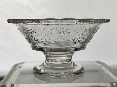 Antique EAPG Bryce, Higbee Barley Pattern Pressed Glass Small Footed Bowl
