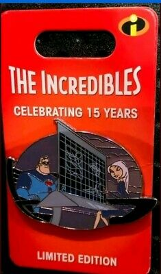Disney Incredibles 15th Anniversary Mr. Incredible & Mirage pin LE