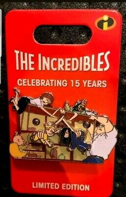 DISNEY Incredibles 15th Anniversary Dinner Table Scene Pin LE