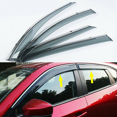 MIT for MAZDA CX-5 4pcs 2014-2016 In-channel Wind Deflectors Weather Guards