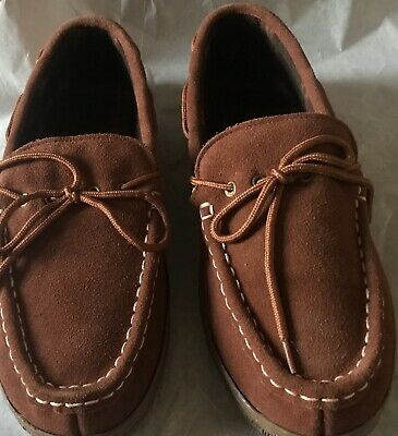 NEW Chinook MOCCASIN Slippers Mens size 12 RJ's Fuzzies Unlined Comy Suede WHEAT