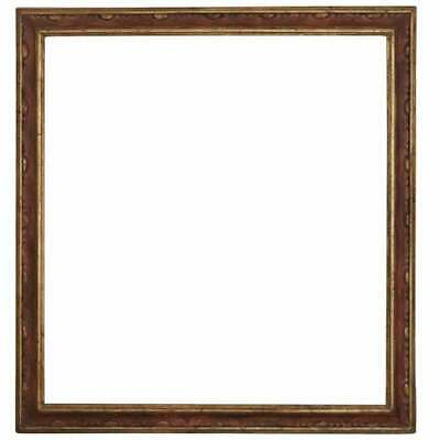 20th Century Italian Carved and Gilded Wood Pink Frame