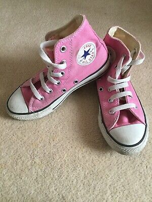 GIRLS PINK ALL STAR CONVERSE INFANT SIZE UK 12 Boots Trainers Shoes