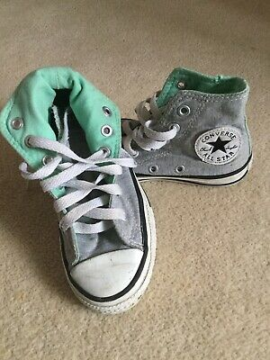 GIRLS ALL STAR CONVERSE INFANT SIZE UK 11 Boots Shoes Trainers Grey Mint Green