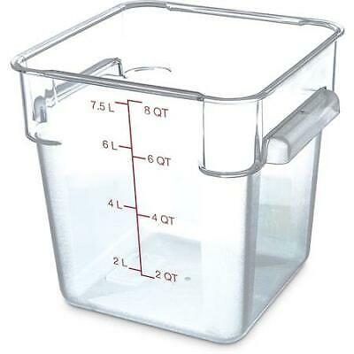 Carlisle Food Storage Container Box 8 qt Clear 1072307 Case of 6