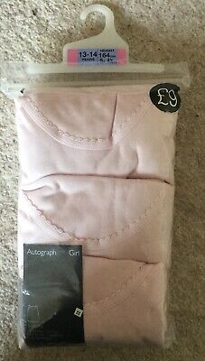 Girls Vests Autograph Marks & Spencer age 13-14 Superfine Pink BRAND NEW