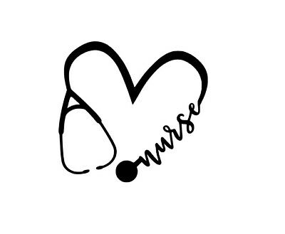 V162 Vinyl Decal Sticker Nurse Heart Stethoscope Home Wall Cup Car Laptop Decal