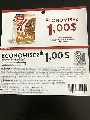 10 coupons X Save $1 On Any Kelloggs Special K Cereal (320 - 658g)