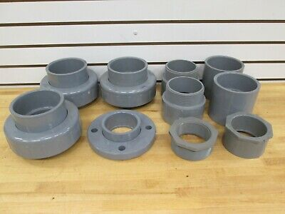 "(10) Misc. Spears 4"" Sch 80 Couplings, Flange And Bushings ~New~"