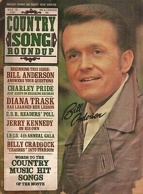 1972 May Country Song Roundup - Bill Anderson - Vintage Magazine