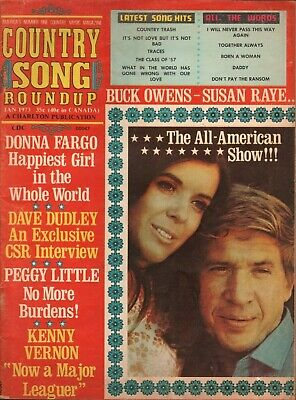 1973 January Country Song Roundup - Buck Owens / Susan Raye - Vintage Magazine