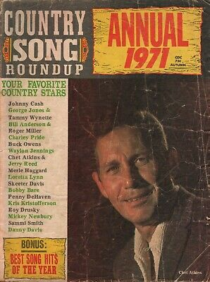 1971 Annual Country Song Roundup - Chet Atkins - Vintage Magazine