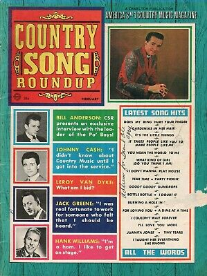 1968 February Country Song Roundup - Vintage Magazine