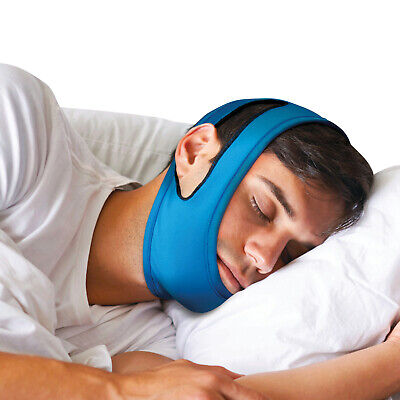 Anti Snore Chin Strap - Adjustable Unisex Fleece Lined Head Wrap Snore Stopper