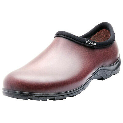 Sloggers Men's Leather-Look Waterproof Rain and Gardening Shoes - Slip On Clogs