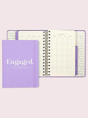 Kate Spade New York Bridal Appointment Calendar, Undated Weekly/Monthly, Purple