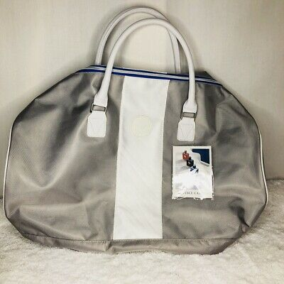 Vince Camuto Weekend Duffle Bag New with Tags Silver Grey Large