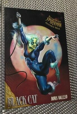 SPIDER - MAN FLEER ULTRA 1995 LIMITED EDITION GOLDEN WEB MARVEL CARD No 1