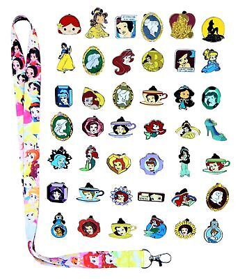 Princess Theme Starter Lanyard Set With 10 Disney Park Trading Pins ~ Brand NEW