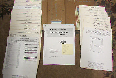 1961~62~63~64~65~66~67~68~1969 Ford~V8~Thunderbird Wiring Diagram~Tuneup Manual
