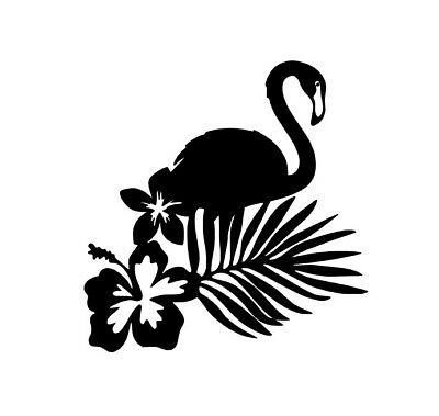 V345 Vinyl Decal Tropical Flamingo Sticker Home Wall Cup Car Laptop Decal