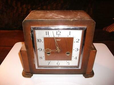 "Smiths ""Newquay"" 8 Day Striking Mantel Clock. 1952. In Need Of Refurbishment."