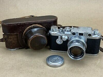 LEICA IIIF Red Dial Self Timer Vintage 1954 Camera #726720 w/ 5cm f/2 Summicron