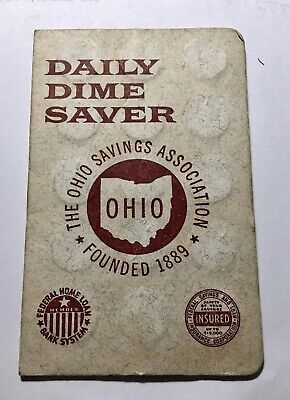 1960s Daily Dime Coin Saver Ohio Savings Assoc Cleveland Parma Mayfield Heights