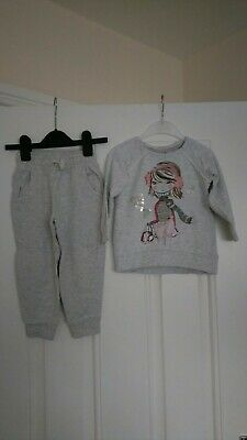 Girls Outfit Next Jogging bottoms and Matalan Jumper 2-3 Years