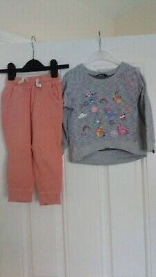Girls Outfit Next Jogging bottoms and George jumper 2-3 Years