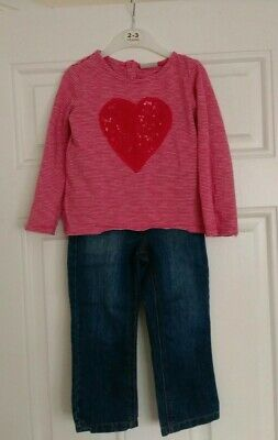 Girls Next outfit long sleeve top and jeans 2-3 Years