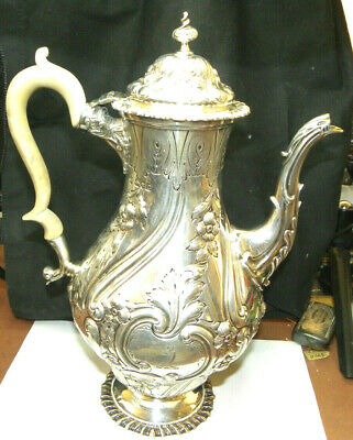 Charles Stuart Harris 1898 English Sterling Exceptional Coffee Pot Gorgeous