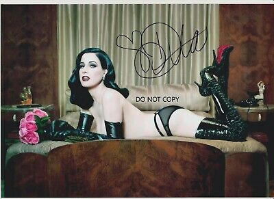 DITA VON TEESE, a4 hand signed photo