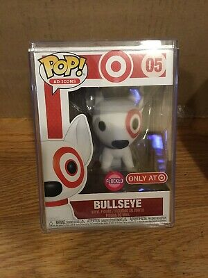 Funko Pop Flocked Bullseye Target Exclusive 2019 SDCC Debut Ad Icons #05 W Case