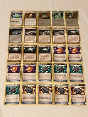 Pokemon Fossil Set 25 Trainer Cards Mysterious Holon Cover Old Amber Helix Armor