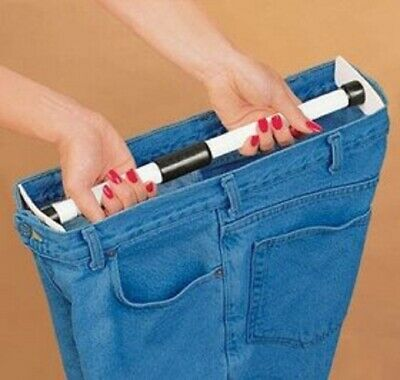 "Waist Pants Extender Adds up to 5"" to waist bands jeans pants, Skirt  26"" to 56"""