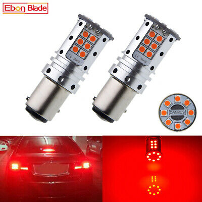 2 X Red 1157 BAY15D Car LED Light 32 SMD P21/5W Canbus Tail Brake Stop Bulb Lamp