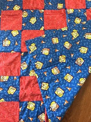 Bob The Builder Quilt Baby Blanket Square Handmade Bob & Wendy Construction Tool