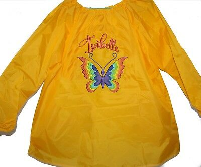 Personalised Art Smock  / Paint Shirt- Rainbow Butterfly - First name FREE