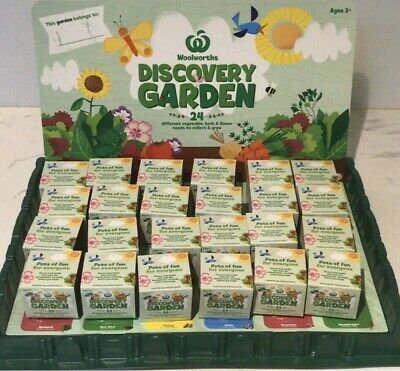 Woolworths Discovery Little Garden ALL 24 Plants Herbs and Flowers With Tray