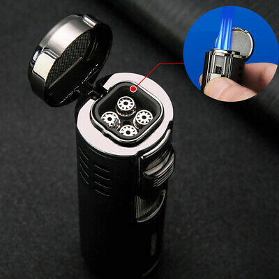 Honest Four Torch Jet Adjustable Flame Refillable Cigarette Cigar Lighter