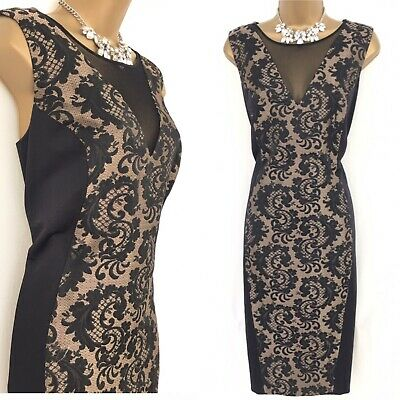 NEXT Dress Size 18 BLACK GOLD Occasion Evening party  C587
