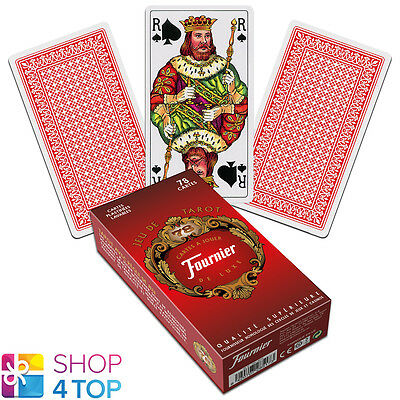 French Tarot Deck Fournier 78 Playing Cards Red Jeu De New