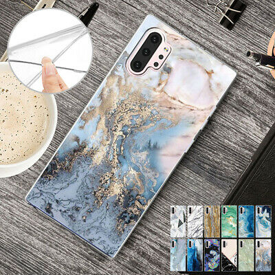 For Samsung Note 10 Plus Note 9 S10 5G S9 Plus TPU Case Soft Thin Marble Cover