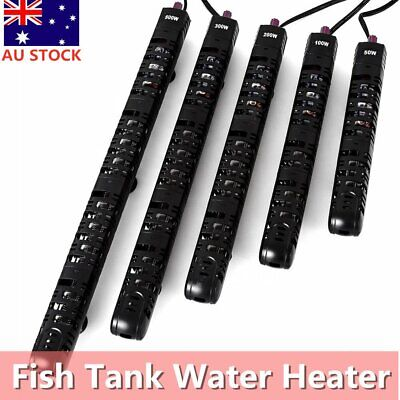 50/100/200/300/500W Submersible Aquarium Fish Tank Water Heater with Cover Guard