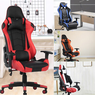 Office Chair Executive Racing Gaming Swivel Pu Leather Computer Multicolor Cheap