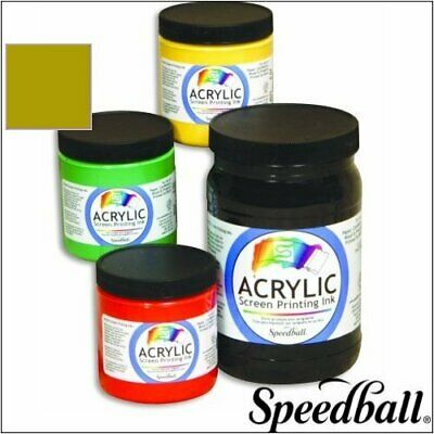 Speedball Art Products 4668 Arcylic Waterbase Screen Printing Ink Gold Gallon
