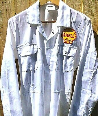 """Superb Goodwood Revival Classic Vintage Retro Shell Badged Overalls 40"""" Chest"""