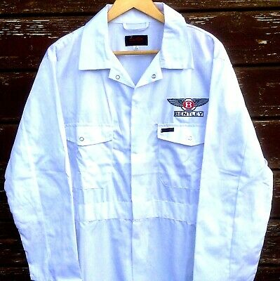 """Fine Goodwood Revival Vintage Classic Retro Bentley Badged Overalls 40"""" Chest"""